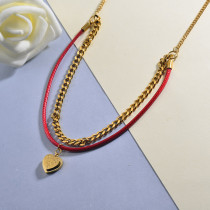 Red Heart Necklace for Girls