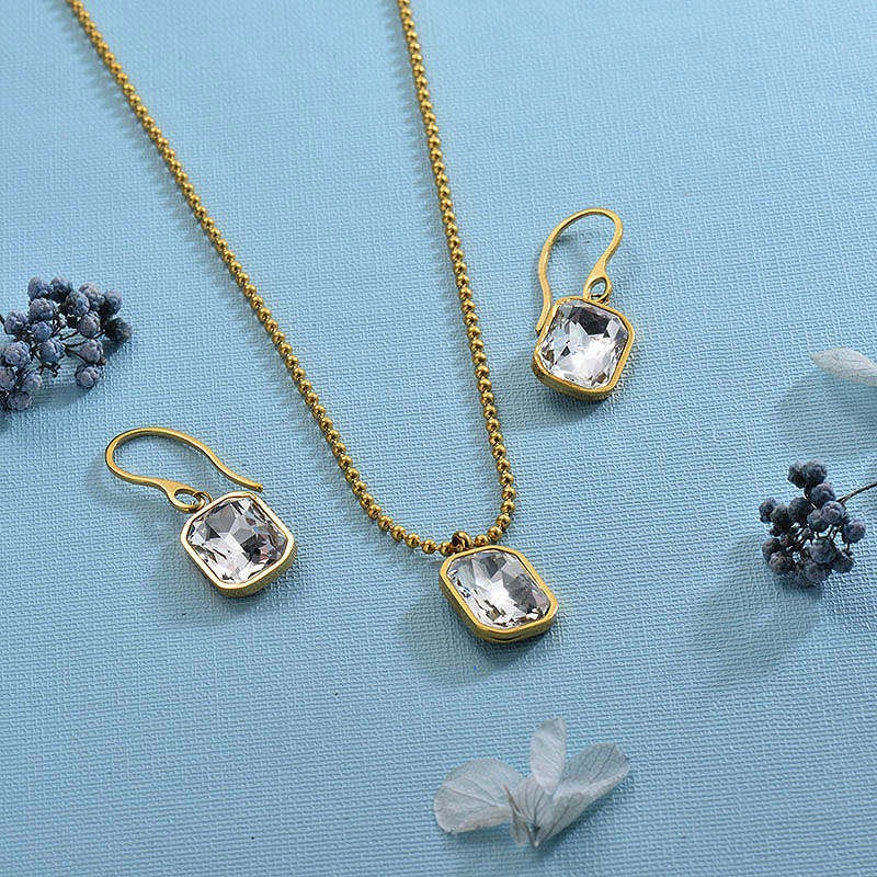 Stainless Steel White Jewelry Sets