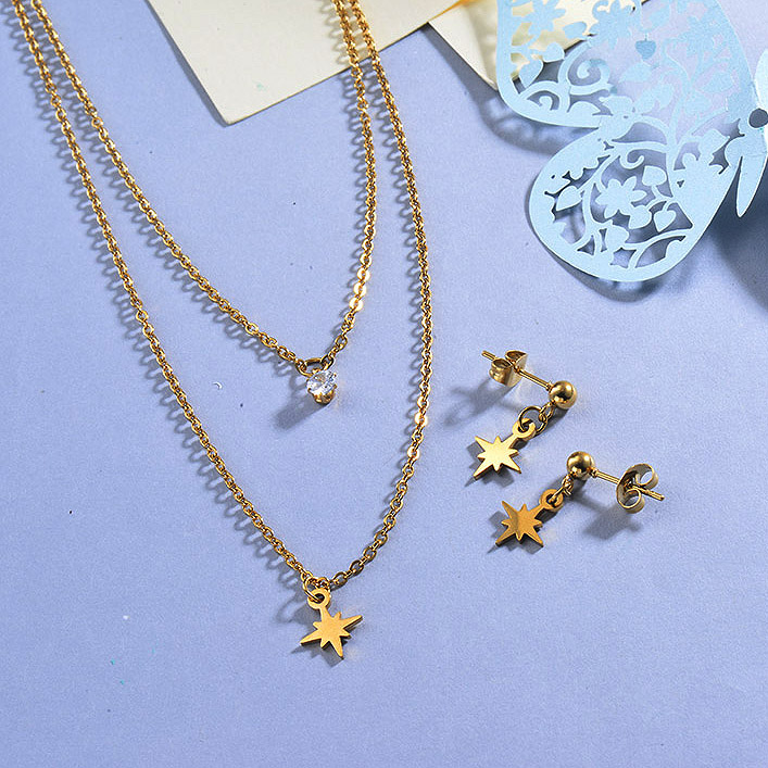 Stainless Steel Star Jewelry Sets for Women