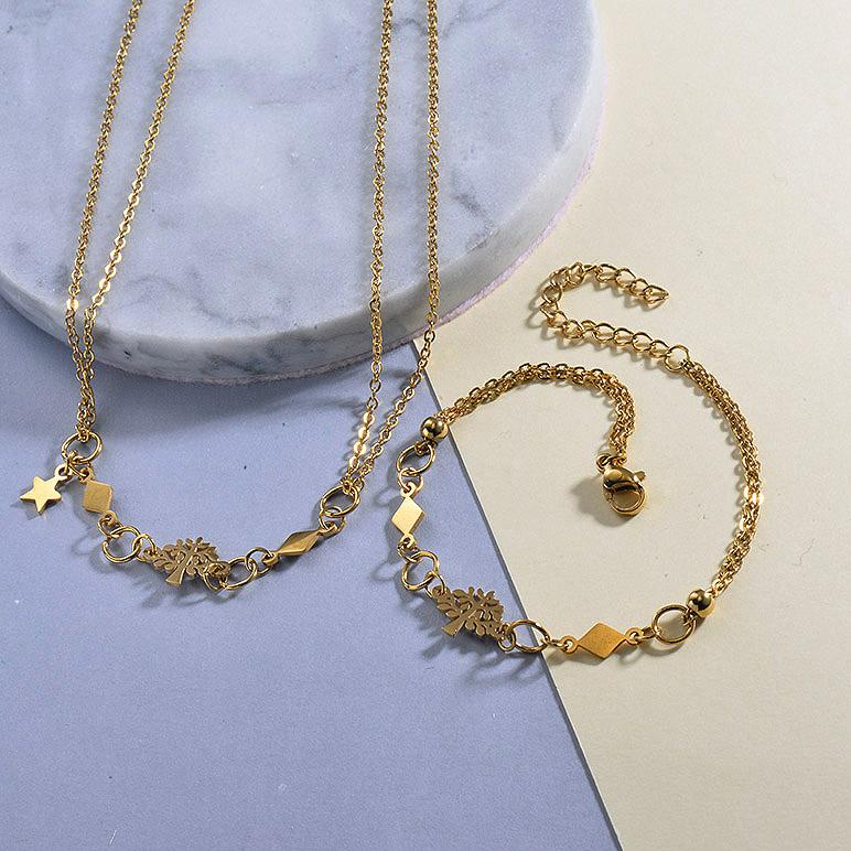 Tree of Lefe Necklace Bracelets Sets