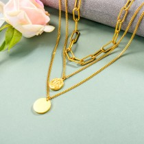 Stainless Steel Multilayered Necklace