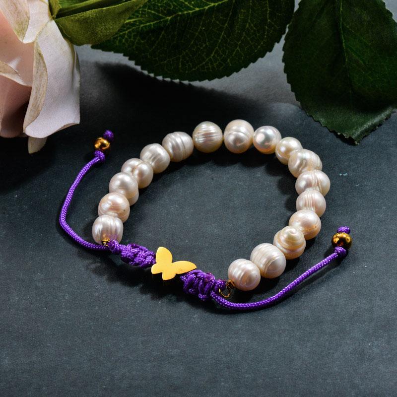 Fresh Water Pearl Beaded Butterfly Bracelets
