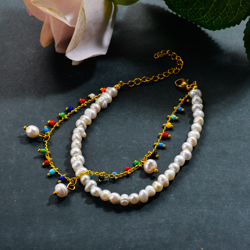 Fresh Water Pearl Double Layered Bracelets