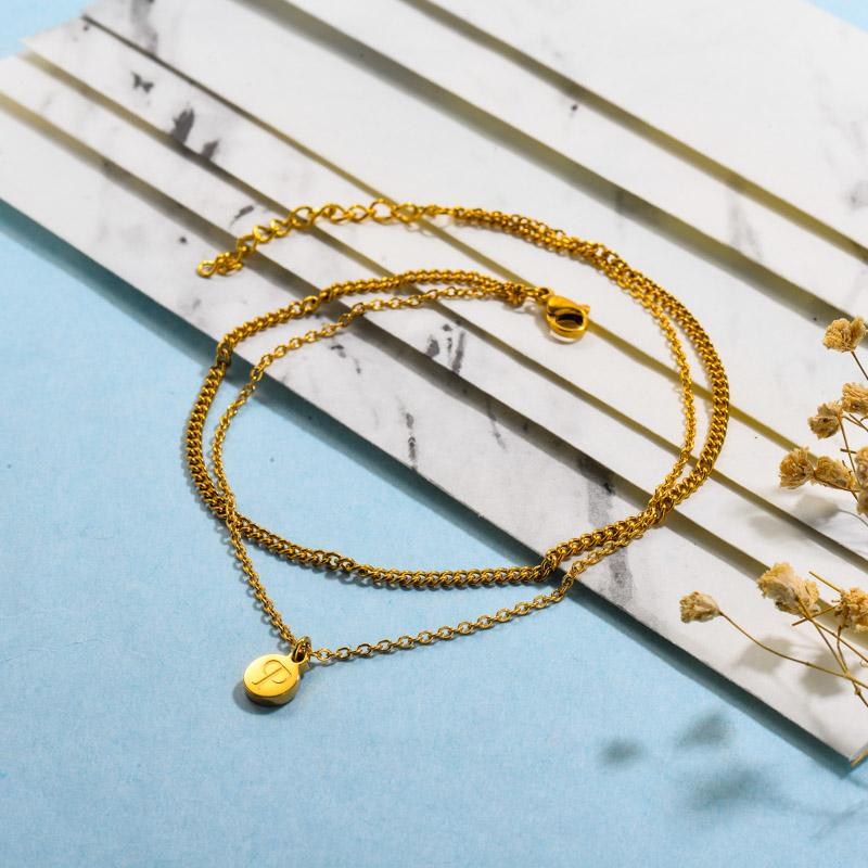 Double Layered Disc Charm Bracelets