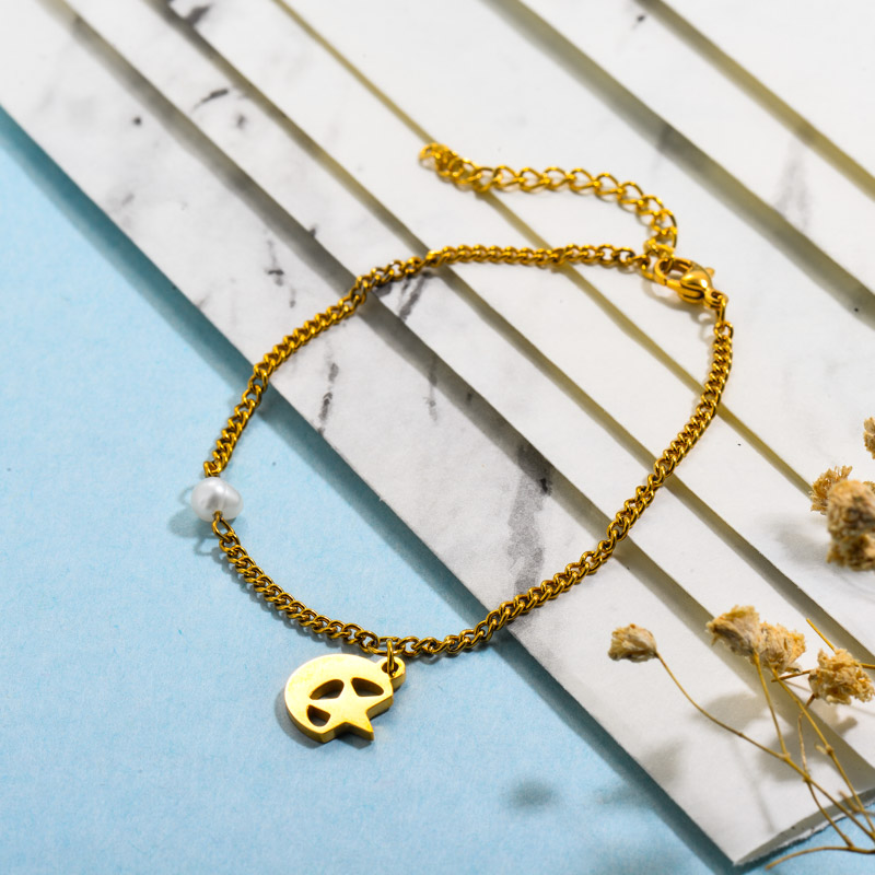 Stainless Steel Moon and Star Pearl Bracelets
