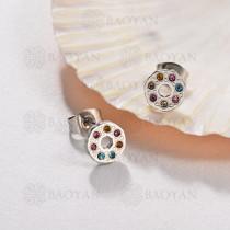 Aretes Multi Color en Acero Inoxidable -SSEGG143-9575