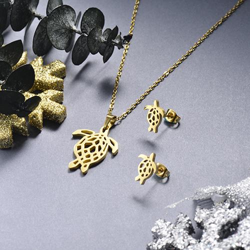 Juego de joyas de acero inoxidable -SSCSG143-19155TDL