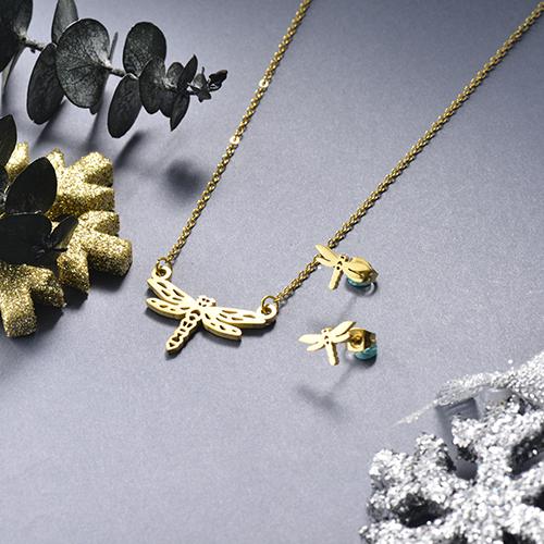 Juego de joyas de acero inoxidable -SSCSG143-19148TDL