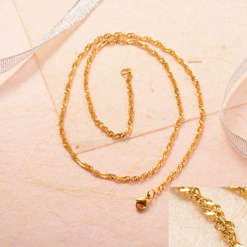 Stainless Steel 18k Gold Plated Chains -SSCDG143-31749