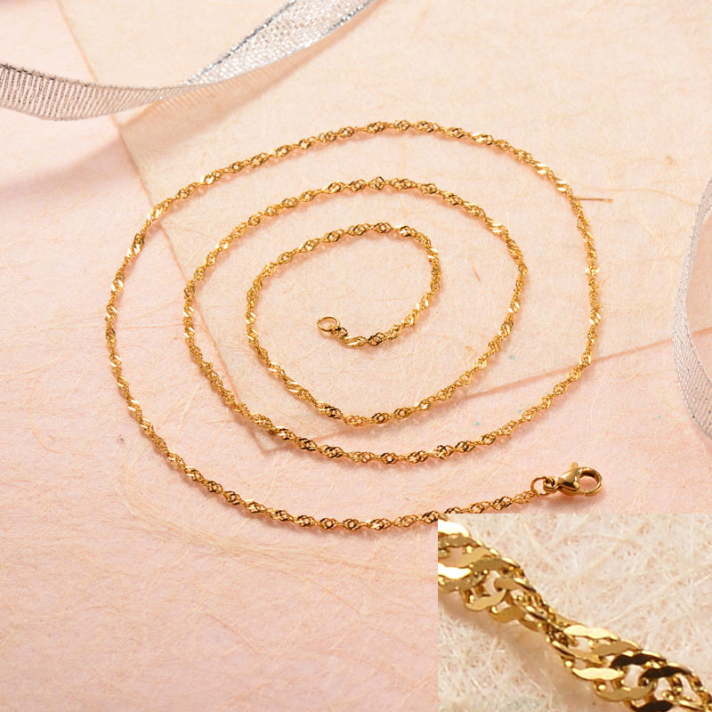 Stainless Steel 18k Gold Plated Chains -SSCDG143-31730