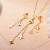 Stainless Steel 18k Gold Plated Jewelry Sets for Women -SSCSG143-31716
