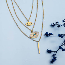 Stainless Steel 18k Gold Plated Necklace -SSNEG142-31477