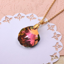 Stainless Steel Crystal Pendant Necklace -SSNEG173-32306