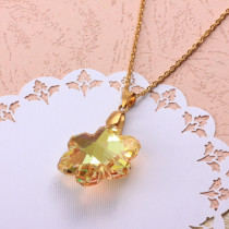 Stainless Steel Crystal Pendant Necklace -SSNEG173-32336