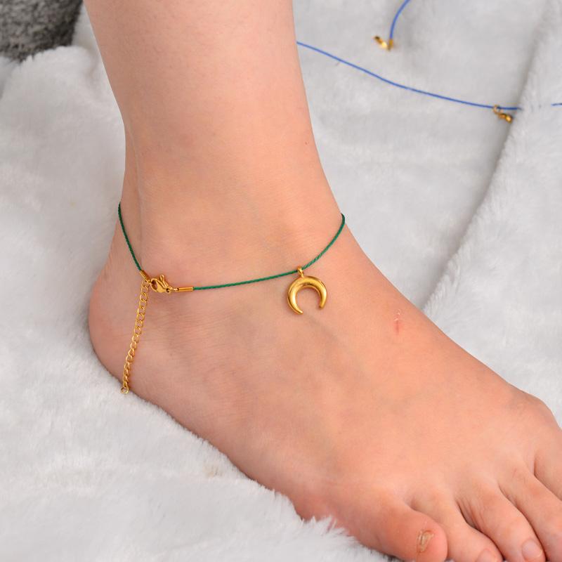 Stainless Steel Charm Anklets-SSTDG142-32164