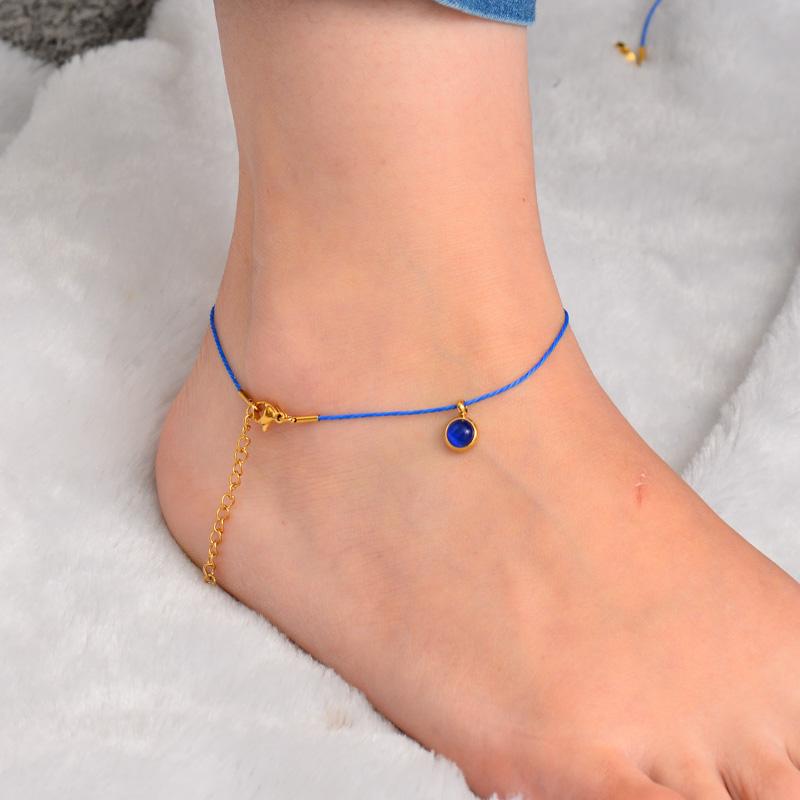 Stainless Steel Charm Anklets-SSTDG142-32163