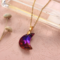 Stainless Steel Crystal Pendant Necklace -SSNEG173-32302