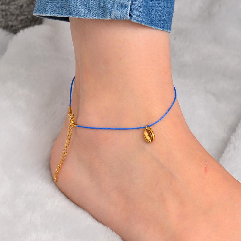 Stainless Steel Charm Anklets-SSTDG142-32161