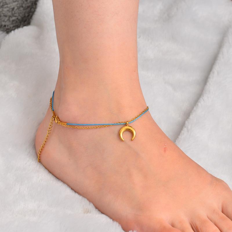 Stainless Steel Charm Anklets-SSTDG142-32159