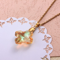 Stainless Steel Crystal Pendant Necklace -SSNEG173-32305