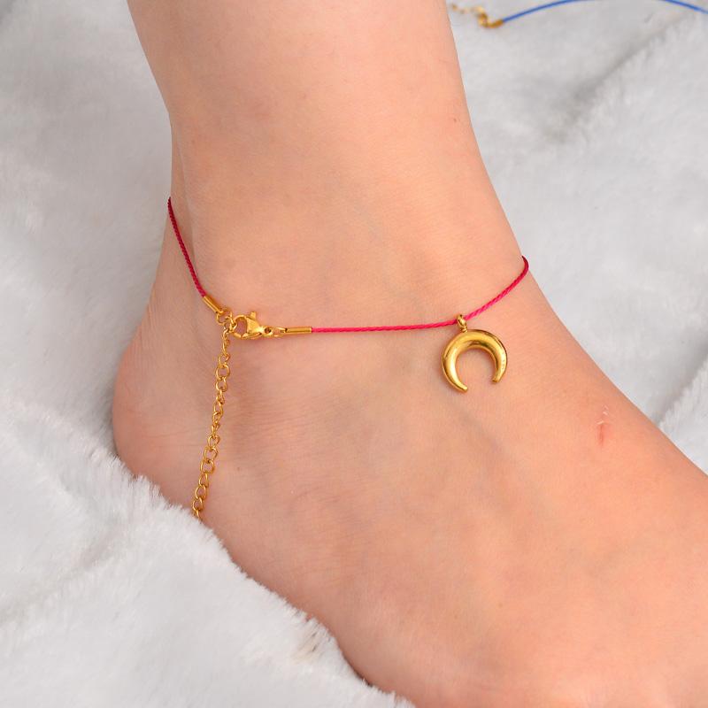 Stainless Steel Charm Anklets-SSTDG142-32171