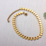 Stainless Steel  Disc Charm  Chain Anklets -SSTDG142-32090