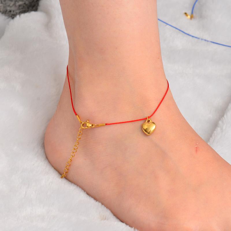 Stainless Steel Charm Anklets-SSTDG142-32166