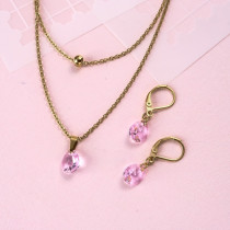 18k Gold Plated Crystal Layered Necklace Set -SSCSG142-31891