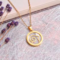 18K Gold Plated Zodiac Necklace for Girls -SSNEG142-32525