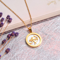 18K Gold Plated Zodiac Necklace for Girls -SSNEG142-32524