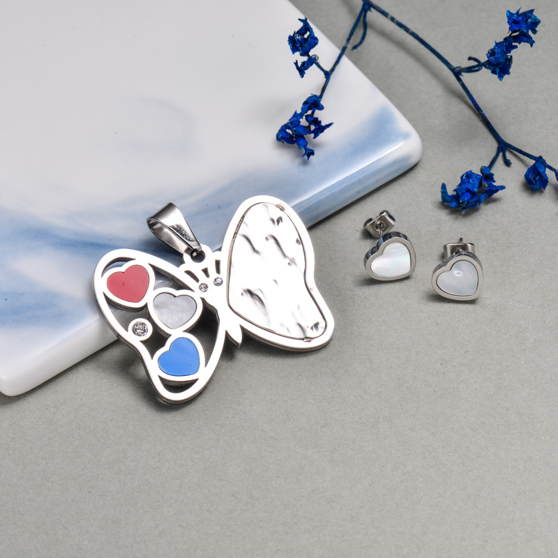 Stainless Steel Butterfly Jewelry Sets -SSCSG143-32642