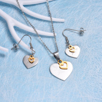 Stainless Steel Heart Jewelry Sets -SSCSG143-10435
