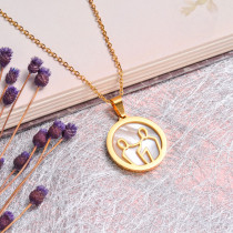 18K Gold Plated Zodiac Necklace for Girls -SSNEG142-32526