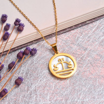 18K Gold Plated Zodiac Necklace for Girls -SSNEG142-32527