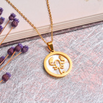 18K Gold Plated Zodiac Necklace for Girls -SSNEG142-32528