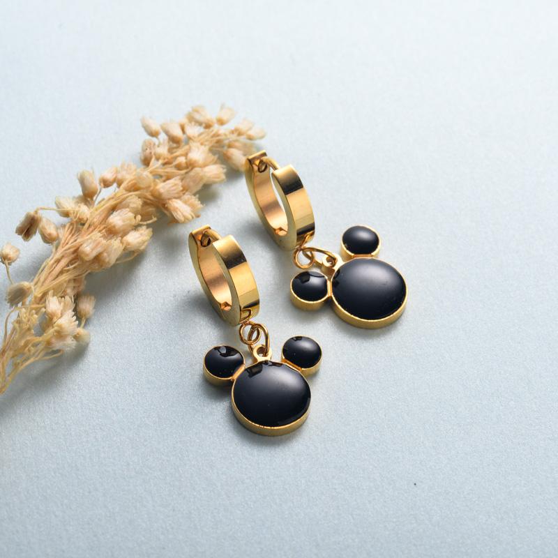 aretes de joyas de acero inoxidable para mujer al por mayor -SSEGG40-33135