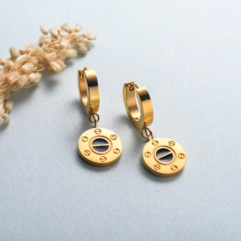 aretes de joyas de acero inoxidable para mujer al por mayor -SSEGG40-33133