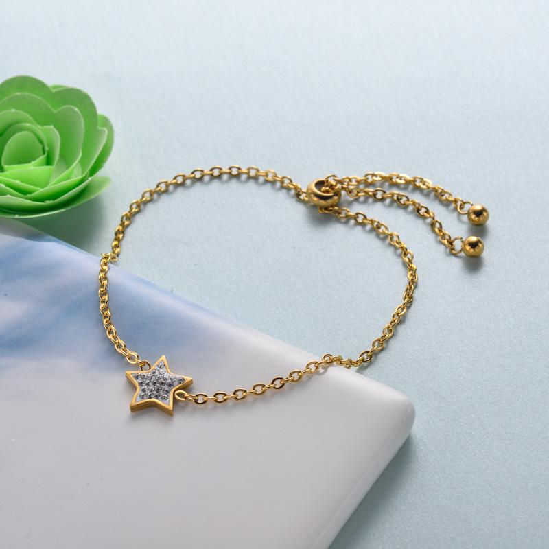 pulseras de joyas de acero inoxidable para mujer al por mayor -SSBTG40-33211