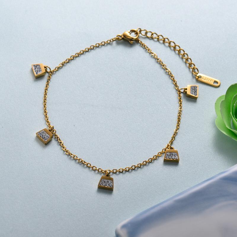 pulseras de joyas de acero inoxidable para mujer al por mayor -SSBTG40-33223