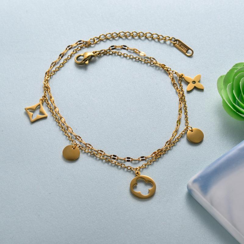 pulseras de joyas de acero inoxidable para mujer al por mayor -SSBTG40-33220