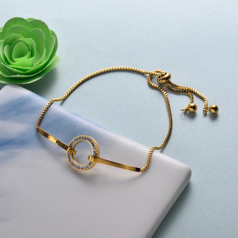 pulseras de joyas de acero inoxidable para mujer al por mayor -SSBTG40-33209