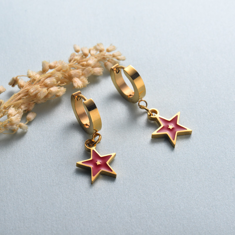 aretes de joyas de acero inoxidable para mujer al por mayor -SSEGG40-33138