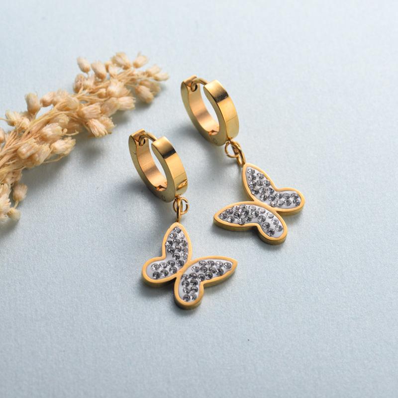aretes de joyas de acero inoxidable para mujer al por mayor -SSEGG40-33134