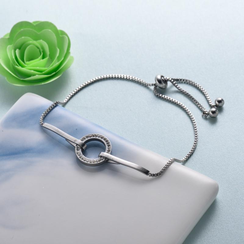pulseras de joyas de acero inoxidable para mujer al por mayor -SSBTG40-33218