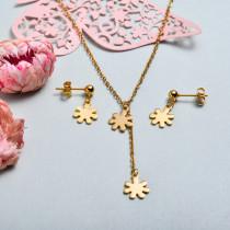 Conjunto de joyas de acero inoxidable para mujer al por mayor -SSCSG126-33351