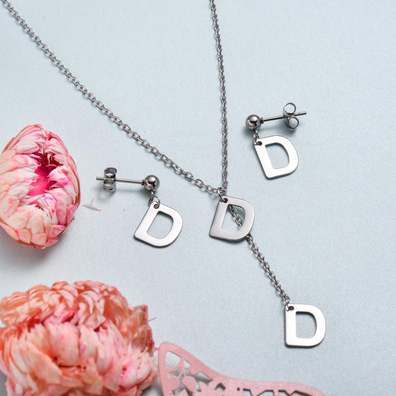 Conjunto de joyas de acero inoxidable para mujer al por mayor -SSCSG126-33384