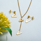 Conjunto de joyas de acero inoxidable para mujer al por mayor -SSCSG126-33422