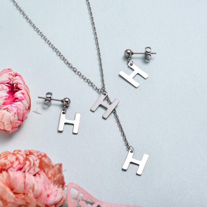 Conjunto de joyas de acero inoxidable para mujer al por mayor -SSCSG126-33386