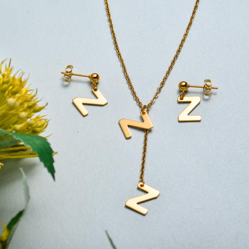Conjunto de joyas de acero inoxidable para mujer al por mayor -SSCSG126-33409