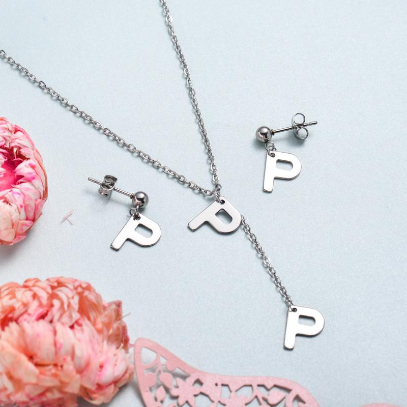 Conjunto de joyas de acero inoxidable para mujer al por mayor -SSCSG126-33379